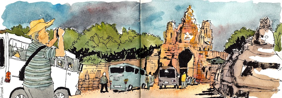 Angkor Thom sketch