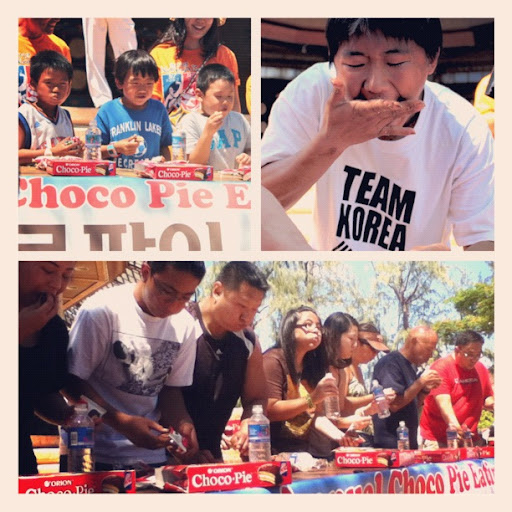 Choco Pie Eating contest in Hawaii