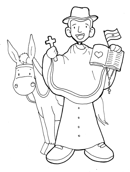 Cura Bronchero coloring pages