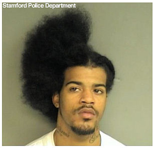funny mugshot with haircut