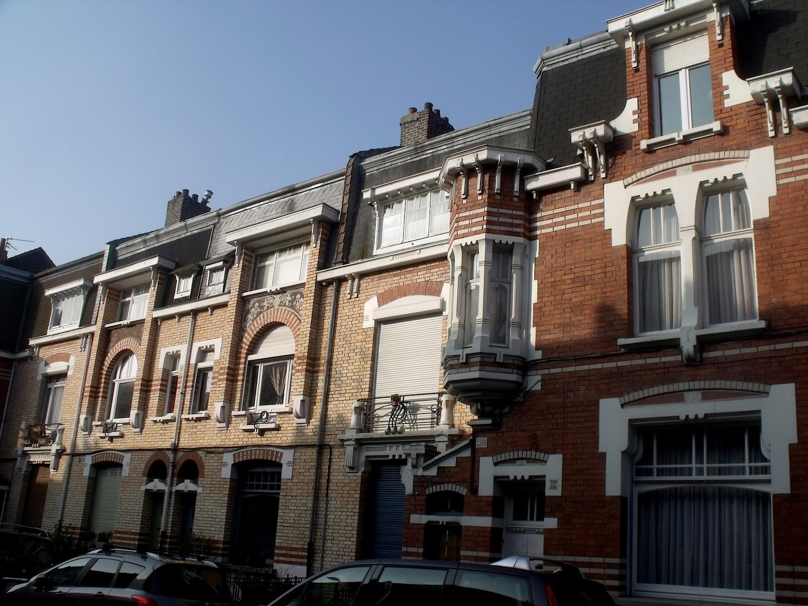 Lille l 39 art nouveau et l 39 art d co mons en bar ul rue for 82 rue brule maison lille
