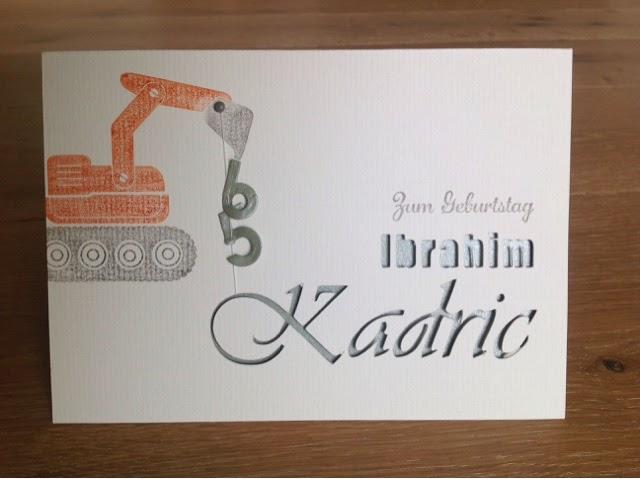 Silhouette Cameo Geburtstagskarte Maskulin