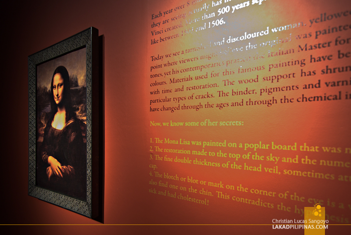 Mona Lisa at The Mind Museum's Da Vinci The Genius Exhibit