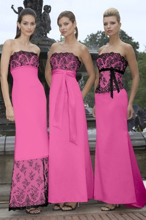 Bridesmaid Dresses Pink And Black - Wedding Dress Shops