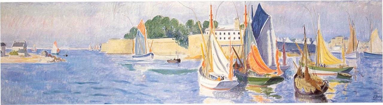 Jean Puy - Le port de Concarneau, 1935