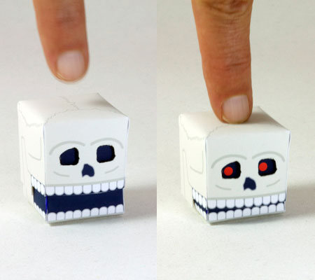 Chomping Skull Paper Toy