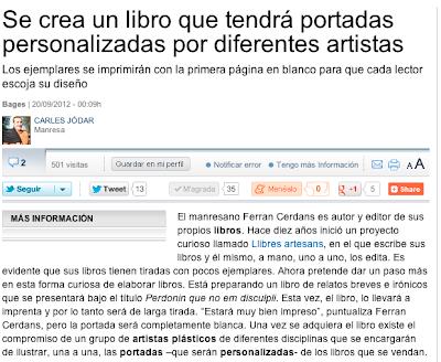 Entrevista La Vanguardia Perdonin Que No Em Disculpi