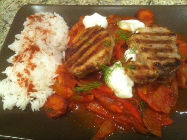 Cooking Jamie 15 Minute Meals Pork Steaks Hungarian Pepper Sauce