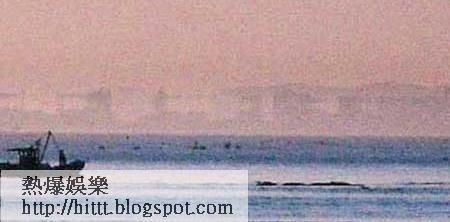 山東蓬萊○五年出現規模最大的海市蜃樓奇觀。(互聯網圖片)
