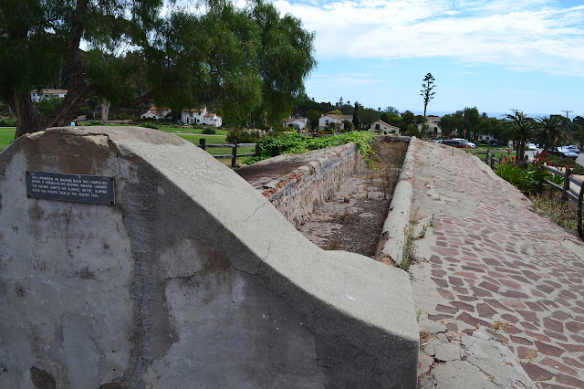 the long lavanderia or washing basin, as the sign says
