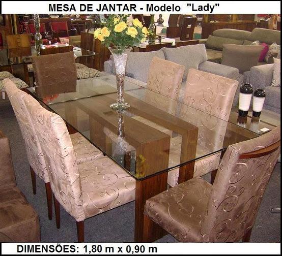 mesa retangular com tampo de vidro