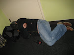 Pone catches a nap in the green room...which was actually green today