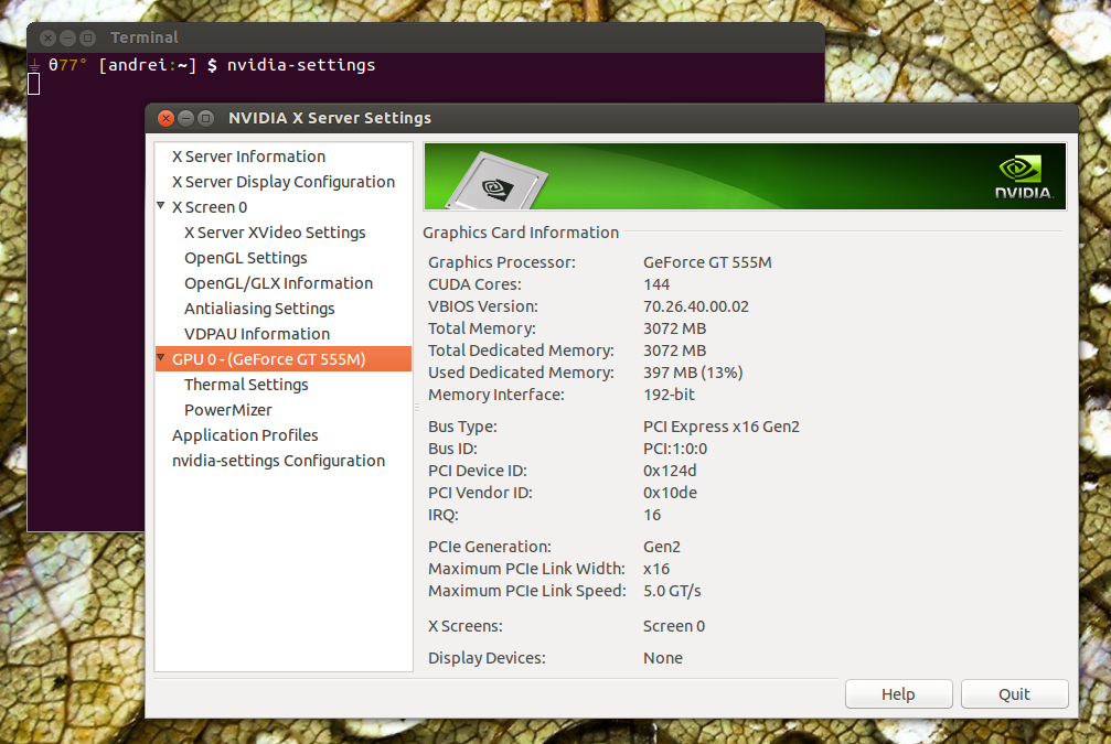 Using Nvidia Graphics Drivers With Initial Optimus Support In Ubuntu
