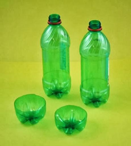 arte com garrafas PET