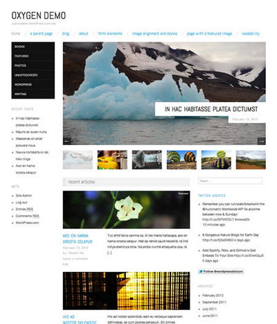 Oxygen Theme – by WordPress