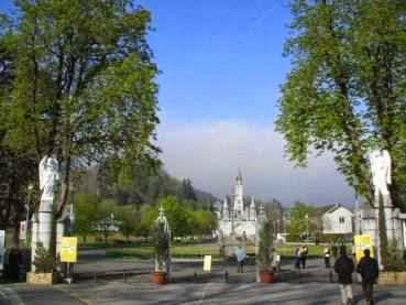 Morgenstimmung in Lourdes, Frankreich