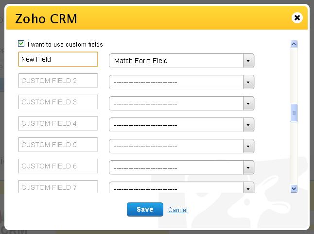 Zoho CRM custom field