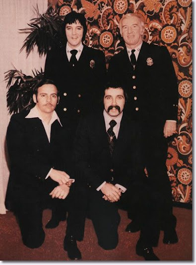 Elvis with Police Captain Jerry Kennedy & DPD Officers