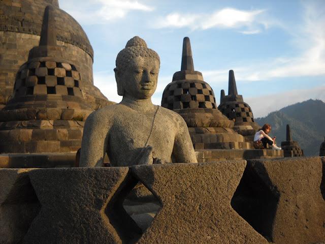 Budha statue on Borobudur Temple
