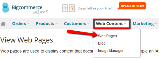 add web forms to a Bigcommerce web page