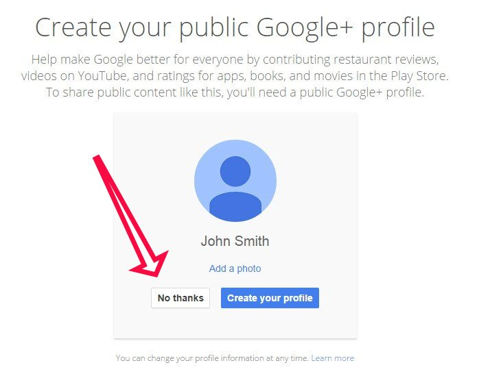 Google+ Account