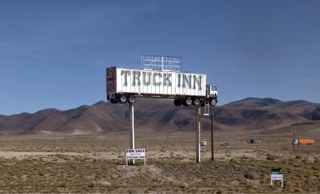 Truck stop sign in Fernley NV