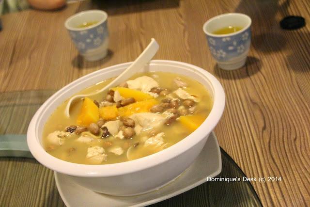 Tofu Soup with peanuts.