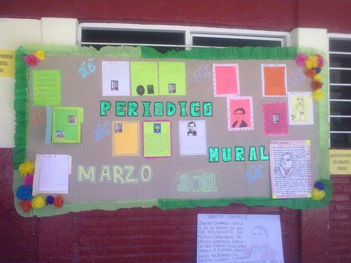 Bibliotecarrillo931 mural de marzo for Cuales son las partes de un periodico mural