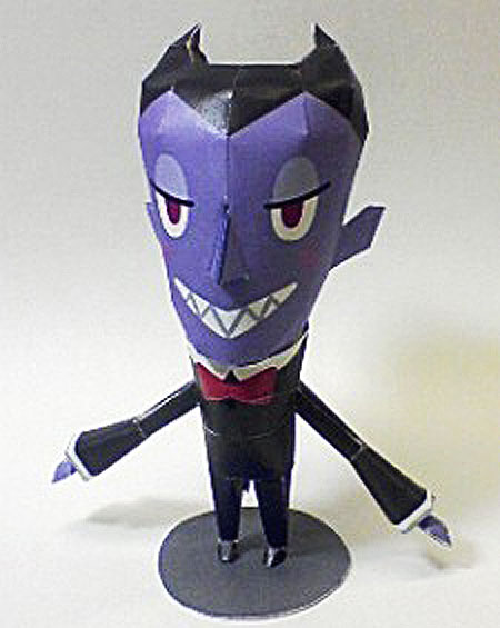 Damon the Vampire Papercraft