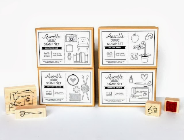 handmade crafting rubber stamps by assemble shop and studio in seattle washington