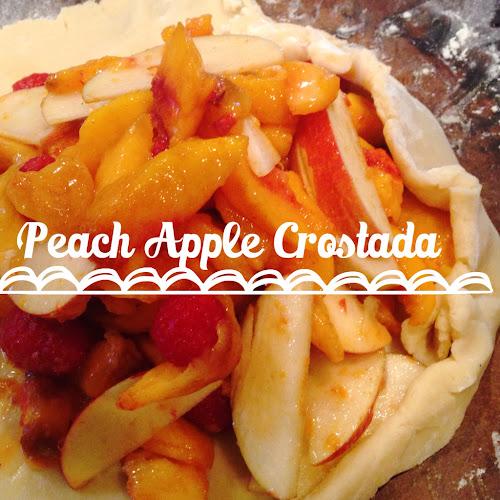 peach crostada, fresh tart