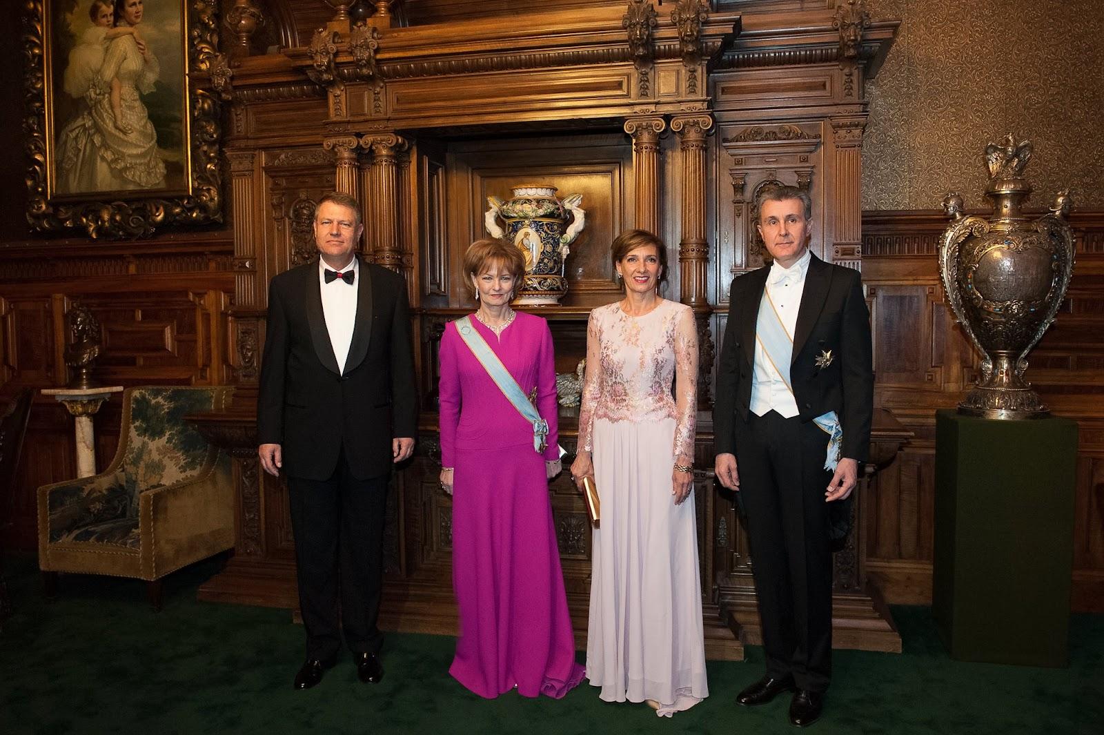 Klaus şi Carmen Iohannis, la dineul de la Castelul Peleş