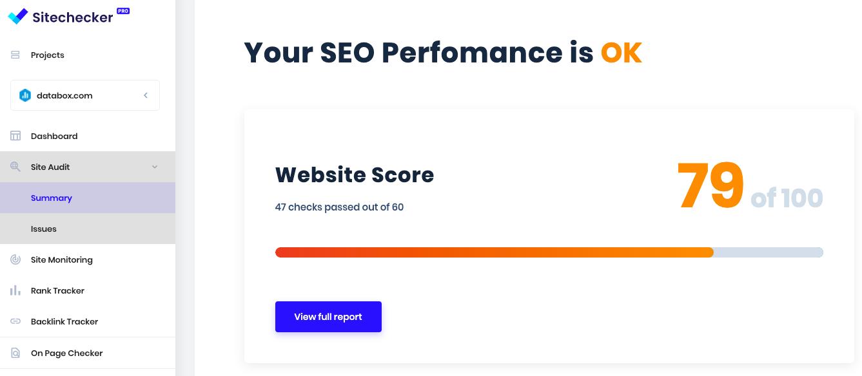 SEO content audit tools - site checker pro