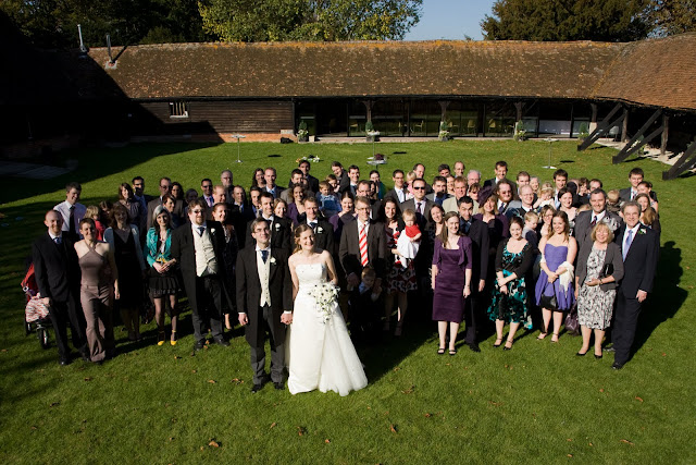 One big wedding photo!
