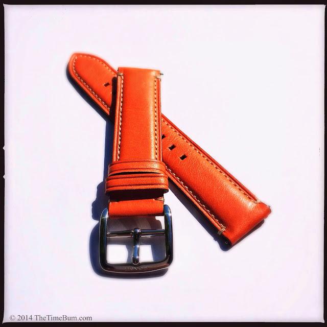 Coach Bleecker leather watch strap