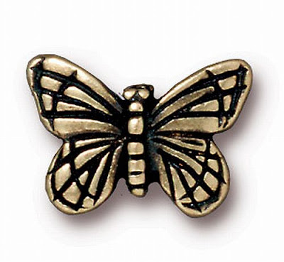 Brass Oxide Butterfly Bead from RoyalMetals