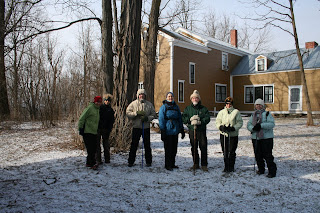 Eight hardy people participated in a bright but chilly walk on the trails at the Rokeby Museum in N. Ferrisburgh on Feb. 11, 2012.