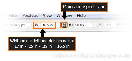 Adjust width via Options