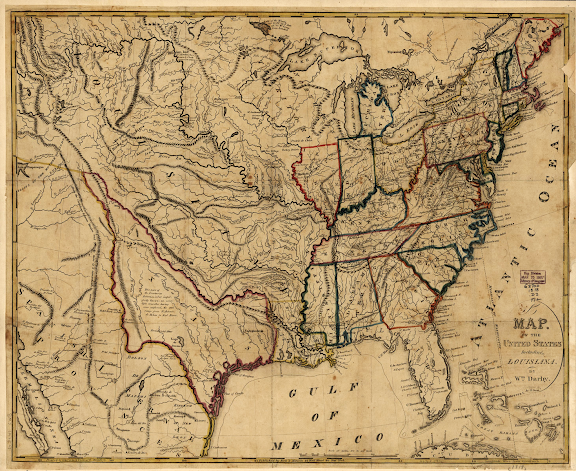 Map of the United States including Louisiana 1818