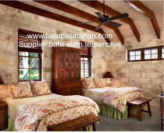 desain kamar tidur batu alam