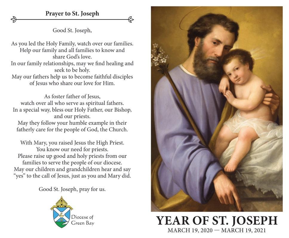 St. Joseph Prayer for 2020 — Nativity of Our Lord Parish