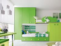 Kids Bedroom Green