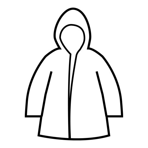Raincoat, free coloring pages