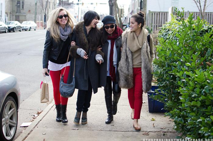 Katya, Carla, Carlis and Alejandra in Old Town Alexandria VA