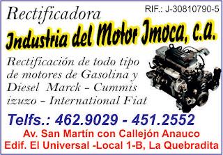 INDUSTRIAS DEL MOTOR IMOCA, C.A. en Paginas Amarillas tu guia Comercial