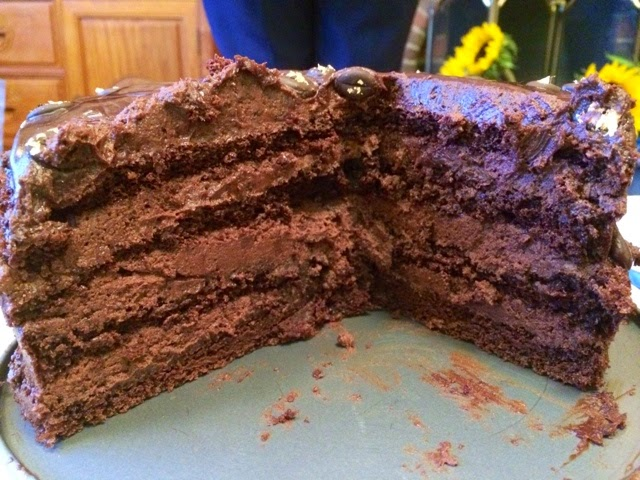 chocolate-and-coffee-mousse-layer-cake