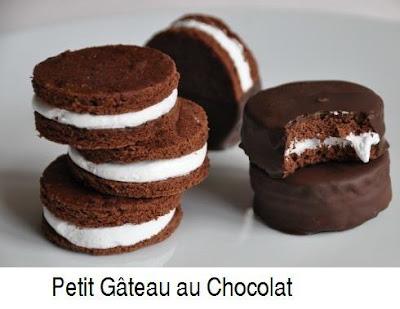 Petits gâteaux au chocolat - recette indexée dans les Desserts