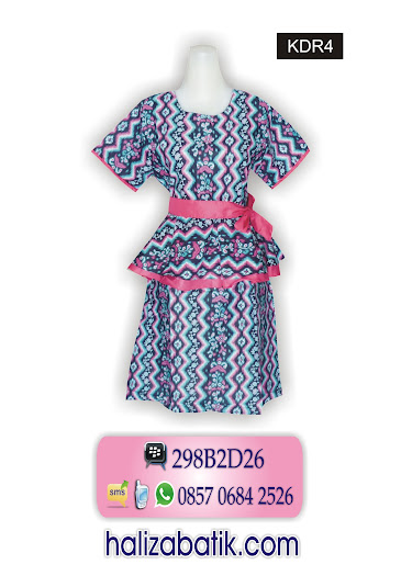 mode baju batik wanita, design batik, batik dress