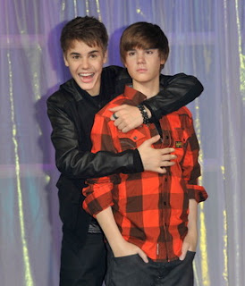 Justin Bieber Meets Wax Double