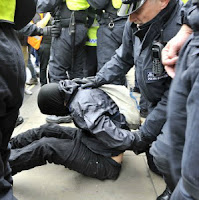 G8 riot police